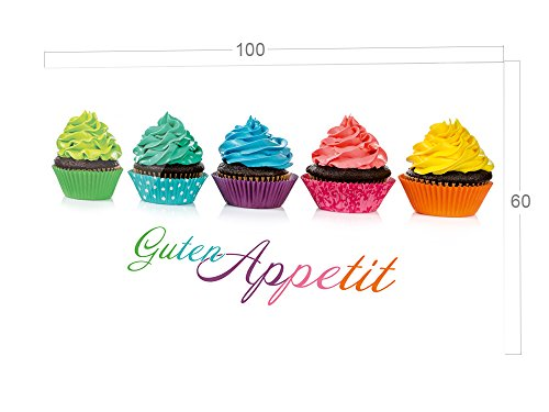GRAZDesign Keuken achterwand Glas Guten Appetit - spatbescherming keuken glas met cupcakes / 200266 100x60cm