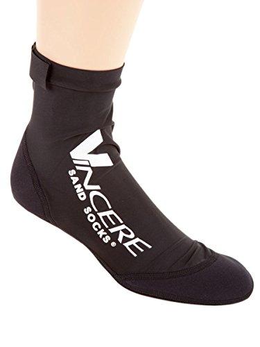 Sand Socks Vincere for Soccer, Volleyball, Snorkeling XXS Black