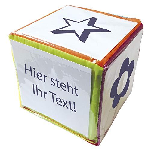 TimeTex Blanko-Würfel mit Einstecktaschen, 20 cm