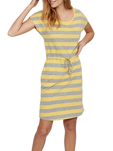 VERO MODA Damen Sommerkleid Jerseykleid Shirtkleid (34 (Herstellergröße: XS), Yarrow/LGM)