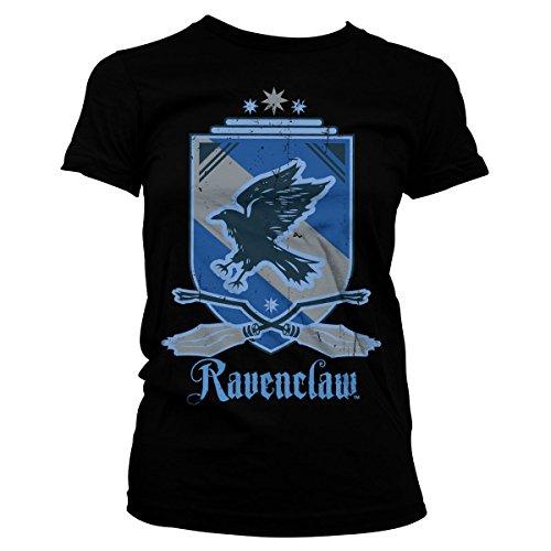 HARRY POTTER Oficialmente Licenciado Ravenclaw Mujer Camiseta (Negro), Medium