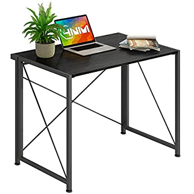 4NM No-Assembly Folding Desk Small Computer Desk Laptop Table Compact Home Office Desk Study Reading Table for Space Saving Office Table