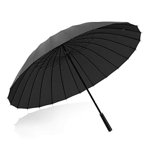 Parapluie Coupe-Vent 24 nervures, assez pour durer et résister aux fortes pluies de vent et de pluie, style classique avec poignée courbée, parapluie unisexe pour la pluie Poignée Classique Léger Etan