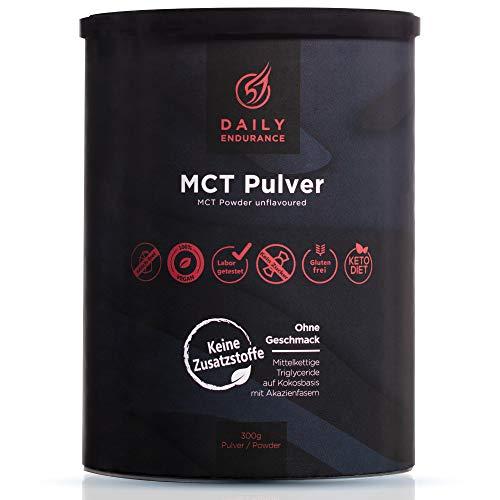 Daily Endurance MCT Öl Pulver | 100% Kokosnuss Keto Creamer | Erhöht Ketone & Ketose | MCT Öl C8 | 70% MCTs / 30% Ballaststoffe | Keine Zusatzstoffe | 30 Portionen (Geschmacksneutral)