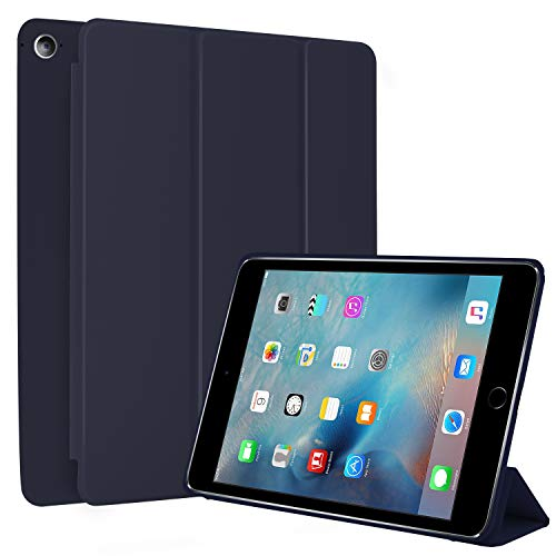 N NEWTOP Cover Compatibile per Apple iPad Mini 4 da 7.9' Pollici 2015, Custodia Flip Smart Libro Ori Case Ultra Sottile Leggera Stand Supporto Funzione Wake/Sleep Simil Pelle (Blu)