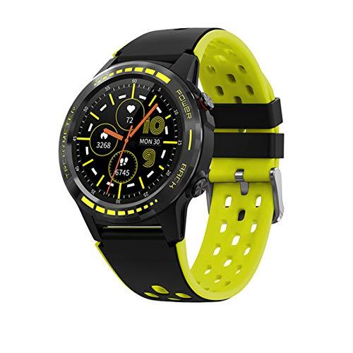 ZRY Hombre Smart Watch Pantalla Táctil GPS Motion Track Brújula De La Brújula Al Aire Libre Fitness Tracker Impermeable Bluetooth Call Smart Watch,B