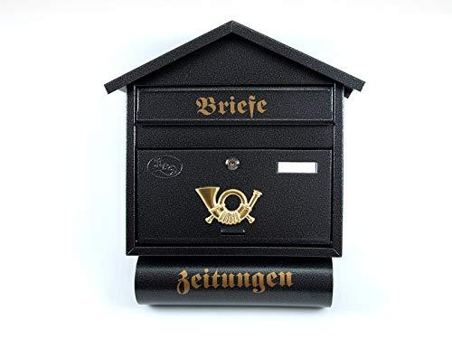 Nuovo batovi S XXL Antracite Nero Oro con giornale rotolo montato Post nischenmarkt Post