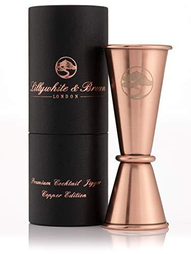 Messbecher / Spirituosen-Set aus Edelstahl, 25 ml und 50 ml (Einzel- und Doppel), wendbar, Alkoholmessausgießer Perfektes Zubehör für Cocktailherstellung mit Gin