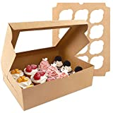 Affordable Set - set contains 20 cupcake boxes and 20 cardboard inserts. The assembled cupcake box measures 13 x 10 x 3.5 inches.