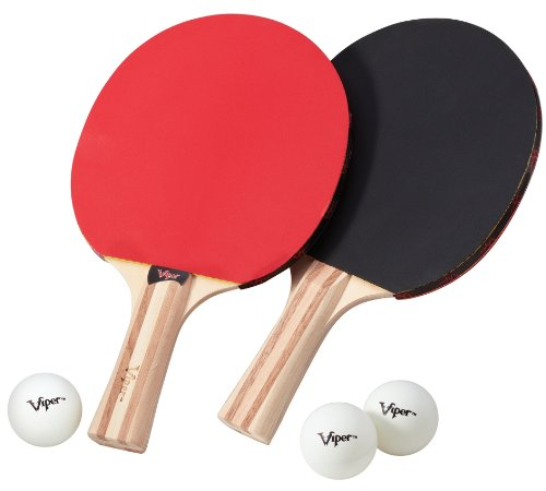 Lowest Price! Viper by GLD Products Table Tennis Accessory Set, 2 Rackets/Paddles and 3 Balls, Multi