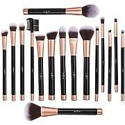 Makeup Brushes Set Anjou 16pcs Professional Cosmetic Brush Foundation Blending Face Powder Blush Concealers Eye Make Up Brush Kits - Elegant PU Leather Pouch Included