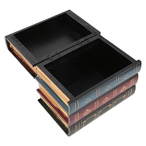 Gefälschte Buchbox, Aufbewahrung Dekorative Buchboxen Vintage dekorative gefälschte Buchaufbewahrungsbox, für Secret Hidden Home Bücherregal Moderne Simulation Memory Book Box(B trumpet)