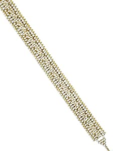 Karatcart Traditional Gold Plated Kundan Kamarband