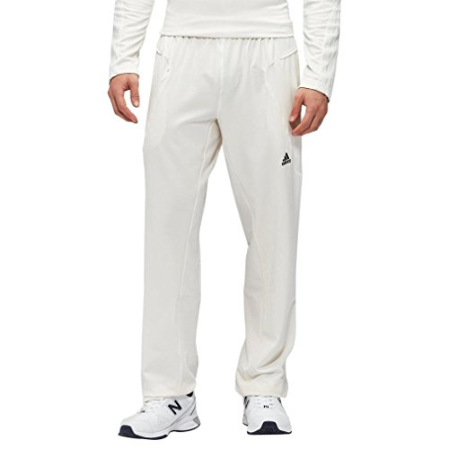 adidas Männer Cricket Hosen, Weiß, L