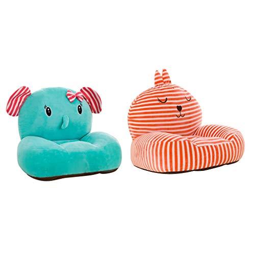 Un conjunto de 2 fundas para silla de niños para la cubierta de los niños de la silla de animales del cómic preescolar.