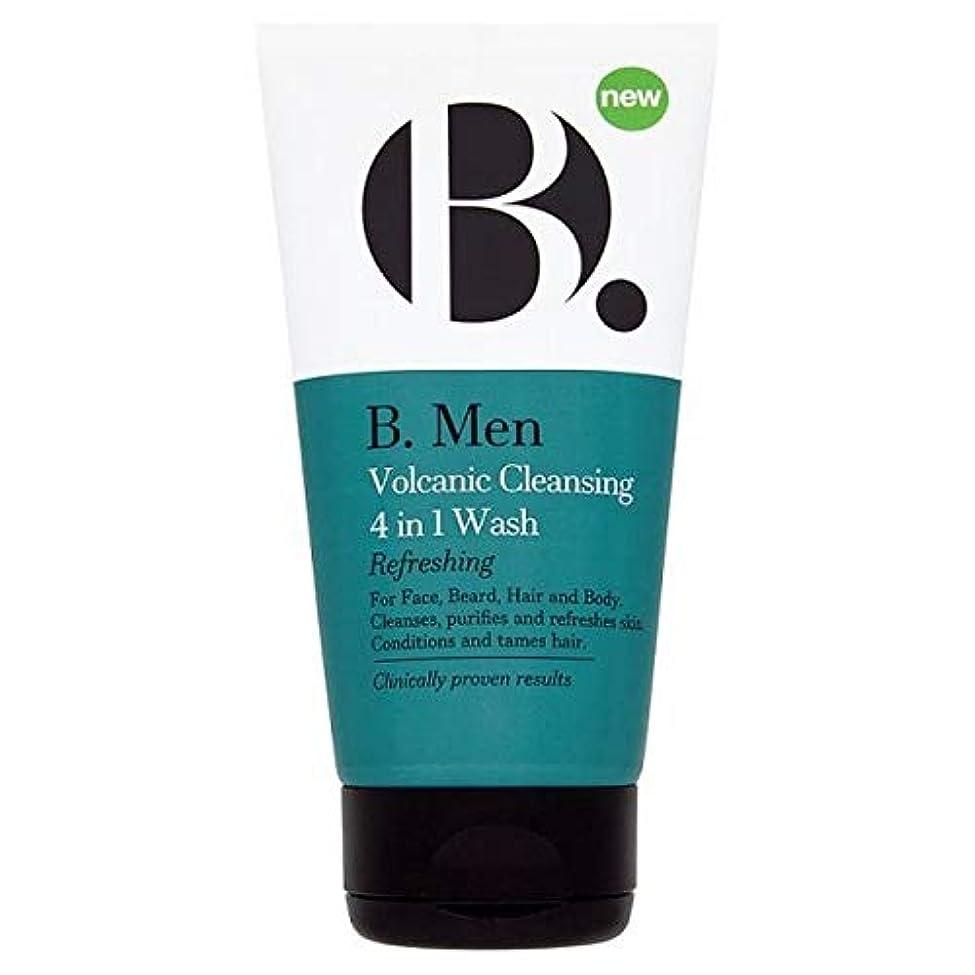 しかしながら望み動作[B Men] B。 1回の洗浄の男性火山クレンザー4 - B. Men Volcanic Cleanser 4 In 1 Wash [並行輸入品]