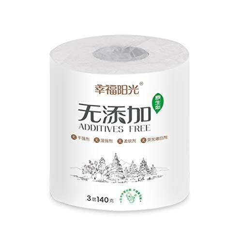 1 rollen Standaard 3-laags toiletpapier Bulkrollen Badweefsel Huishouden