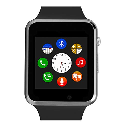 Smart Watch For Android Phones,Touch Screen Bluetooth Smart Watch with Phone Call Text ,Compatible Android iPhone Samsung LG ,Camera Music with TF/SIM Card Slot Step Tracker Watch for Men Women Teens
