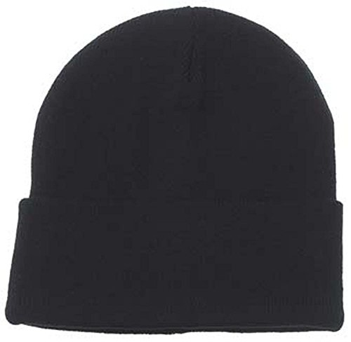 Rollmütze acrylique, maille fine noir noir