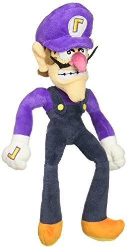 """Little Buddy Super Mario All Star Collection 1422 Waluigi Stuffed Plush, 12.5"""""""""""", Multi-Colored"""