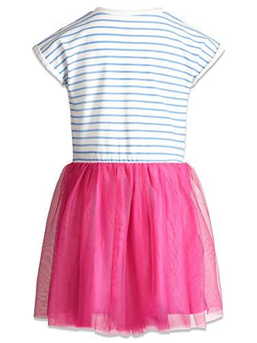Disney Minnie Mouse Toddler Girls Short Sleeve Dress Blue/Pink 4T