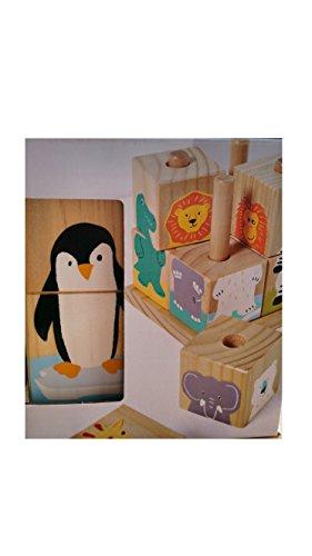 Tchibo Holz Bilderwürfel Holzwürfel fördert die Feinmotorik aus Holz Holzspielzeug