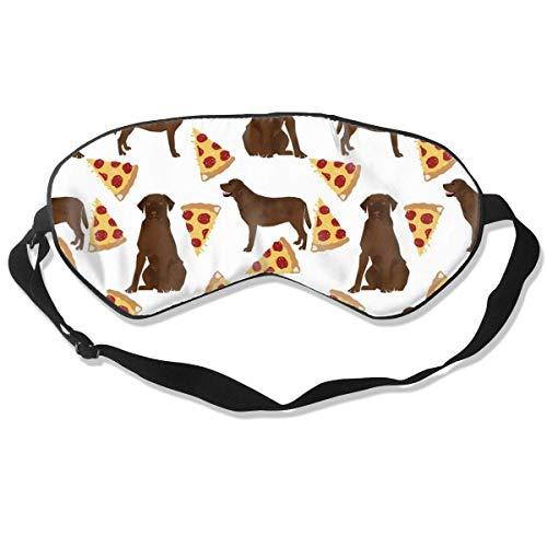 Premium Super Zacht Ademend Oogmasker met Verstelbare Band - Cartoon Pinball Oranje - Licht Blokkerend Slaapmasker voor Reizen, Nap, Yoga, Meditatie Eén maat Chocolade Labrador Pizza