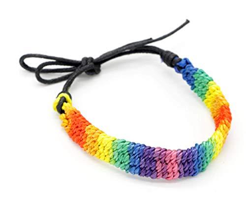 CrownOfRibbons Gay Pride Armband, Regenboog Lesbische Gift, LGBT Cadeau, Unisex Touwketting Mannen Vrouwen