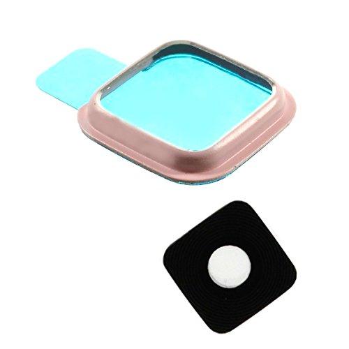 BisLinks rosa cámara trasera de cristal de diseño de anillo Para reparación de Samsung Galaxy Note 4 N910