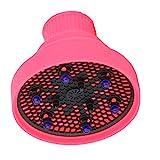 MERIGLARE Difusor de aire caliente para cabello rizado, difusor plegable de silicona para secador de pelo - Rosa