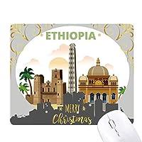 市エチオピアパーム城 クリスマスイブのゴムマウスパッド