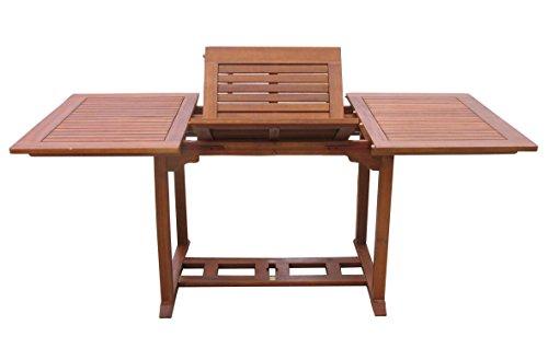GRASEKAMP Qualität seit 1972 Gartentisch Cuba 120-180x90cm Akazienholz ausziehbar