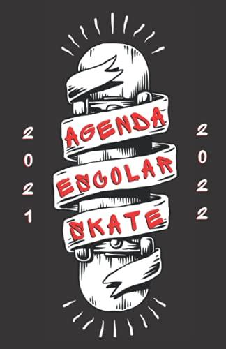 Agenda Escolar 2021-2022 Skate: Agendas 2021-2022 dia por pagina   Planificador diario para niñas y niños   Material escolar colegio secundaria estudiante   Portada skateboard