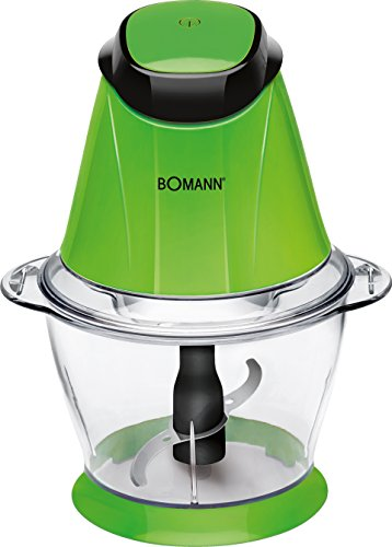 Bomann MZ 449 CB Picadora Multiusos, función Pica-Hielo, 250 W, 1000 milliliters, Acero, Verde