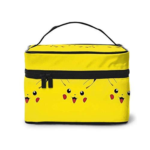 Pikachuu - Bolsa de maquillaje, portátil, bolsa grande, organizador de brochas de...