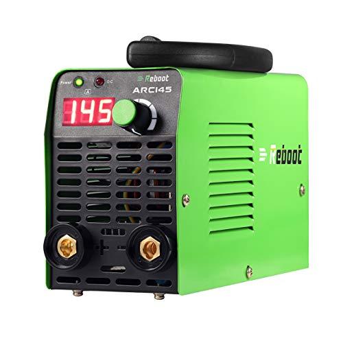 ARC Welder Dual Voltage 145 AMP - Reboot ARC145 MINI Stick ARC Welding Machine 110V/220V High Frequency Duty Cycle Inverter 1/16~1/8