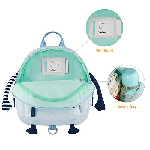 GAGAKU Mini Backpack for Baby Boys 3D Cute Cartoon Preschool Backpack with Anti-Lost Harness Leash - Blue