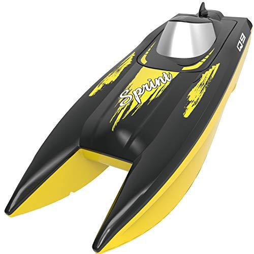 SYMA RC Boot 2.4GHz Fernbedienung Schnell Boot Spielzeug High Speed Racing Boot mit Starker Kraft Geschenk für Anfänger und Kinder