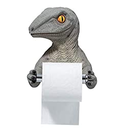 3. FUYU 3D Dinosaur Wall Mounted Toilet Paper Holder