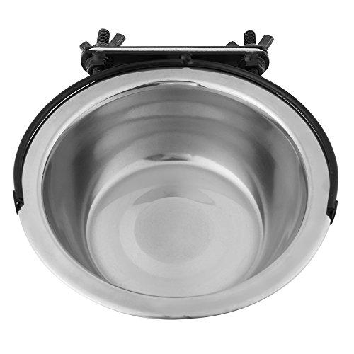 Hundenapf, Edelstahl Hundenapf, Hundenapf, Näpfe zum Aufhängen mit Zubehör, aufsteckbare Hundenäpfe für Kiste, Hundekäfig, Futter- und Wassernapf (M)