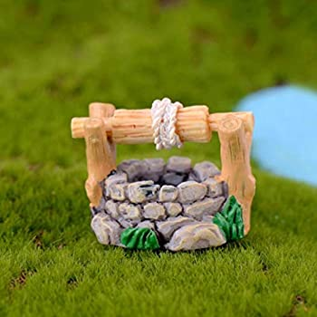Gilroy Fairy Garden Wishing Well Kit - Miniature Hand Painted Figurine Statues with Accessories for Your House or Lawn Decor