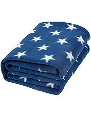 Dreamscene Manta de Franela con Estrellas para sofá de niños, Azul, 125 x 150cm