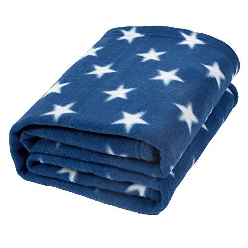 Dreamscene Manta Franela Estrellas sofá niños, Azul