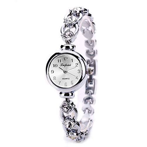 Dunne armband, modieus, voor dames, kwarts, met kunstmatige steen