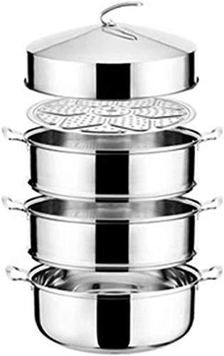 XY-M Pote de Vapor Olla Acero Inoxidable Multicapa vaporizador de Vapor de Vapor Grande Multi-Capa denschy comercialmente Extra Grandes Ruedas de Vapor Elevado Horno Universal 3 40 cm