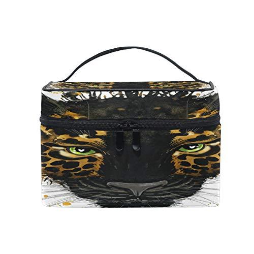 Trousse de maquillage, trousse de toilette léopard, grande poignée de voyage, cadeau idéal pour adolescentes, filles, femmes et femmes