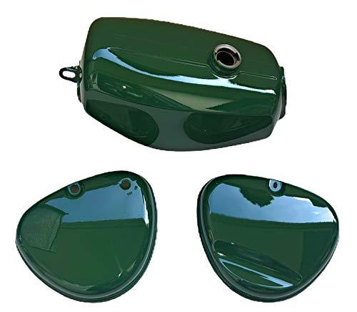Tank Kraftstoffbehälter + Seitendeckel grün für Simson S51, S70 Enduro