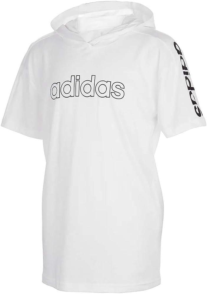 adidas Boys' Big Short Sleeve Hooded T-Shirt