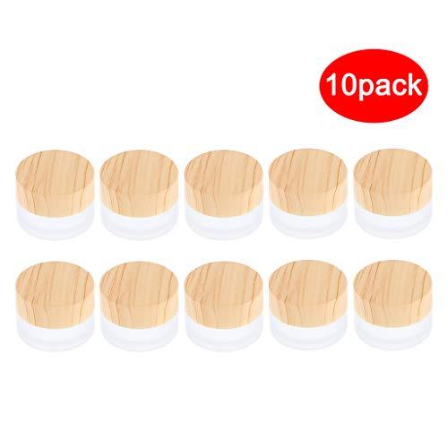 B Blesiya 10 Stück Glas-Tiegel Leere Creme Glas-Dose, Salbentiegel, Kosmetik-Dose Kosmetik Behälter mit Deckel
