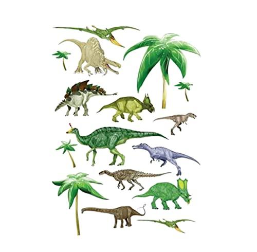 Pegatinas De Dinosaurio, Pegatinas De Dibujos Animados Para Niños, Pegatinas De Pared, Sala De Estar, Dormitorio, Pegatina De Pared Tallada, Decoración Del Hogar